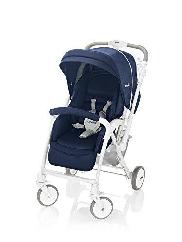 Brevi Verso Traditional stroller 1seat(s) Azul, Color blanco - Cochecito (Traditional stroller, 1 seat(s), Azul, Color blanco, Plano, Solid wheels, Fijo)