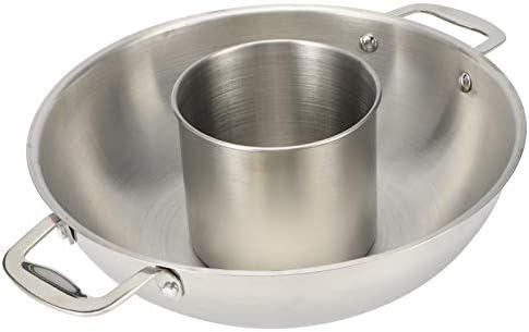 Pot Chaud à Deux Saveurs, Pot Chaud en Acier Inoxydable, Pot Chaud Shabu sûr à Utiliser, casseroles de Cuisson, pour Les fêtes Entre Amis en Famille