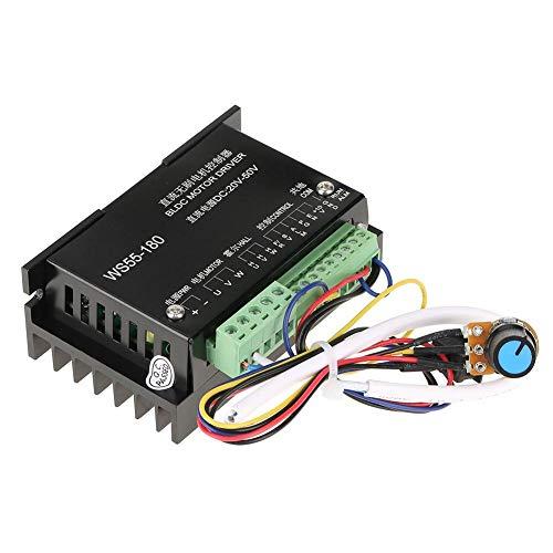 ケーブル付きモータードライバーコントローラー、WS55-180 DC 20V-50V CNCブラシレススピンドルBLDCモータードライバーコントローラー