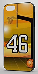 Basketball Sports Fan Player Number 46 Black Rubber Decorative iphone 5s Case