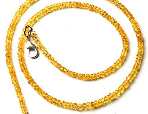 (GemAbyss Beads Gemstone 1 Strand Natural Songea Sapphire 3 to 3.5MM Facet Rondelle Beads 16 Inch Long Long Code-MVG-11337)