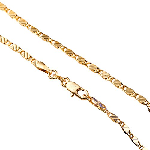 - Fashion Stainless Steel Link Curb Chain Necklace for Men Women Bride Wedding Engagement (Gold22)