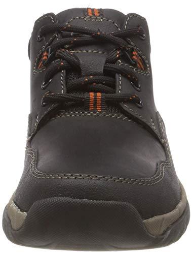 Ii Para Walbeck Zapatos Cordones Hombre Derby De Leather Negro Clarks black Edge pnwn0