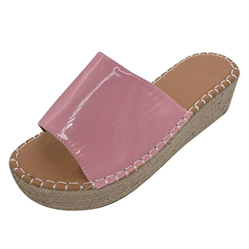 - Girl Platform Wedge Sandals,Londony❤ღ♕Women's Platform Sandals Espadrille Wedge Ankle Strap Studded Open Toe Sandals Pink