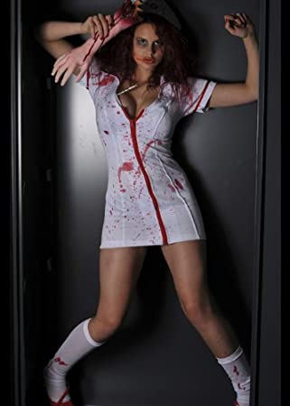 586f89774db51 Adult Ladies Sexy Zombie Nurse Halloween Fancy Dress Costume (Women:  12-14): Amazon.co.uk: Toys & Games