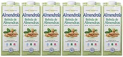 Almendrola - Bebida Vegetal de Almendras Sin Azúcar - Caja de 6 x 1L: Amazon.es: Alimentación y bebidas