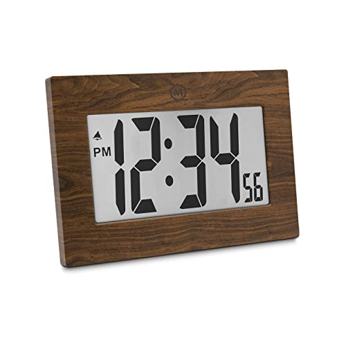 Tabletop Clock Wood (Marathon CL030064WD 9