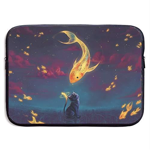Xxh 15 Inch Laptop Sleeve Computer Bag MacBook Air/pro Sleeve Goldfish Night Stars Notebook Case