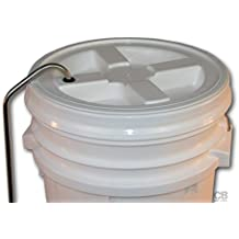 "Home Brew Ohio HOZQ8-872 Blow-Off Tube for 6.5 and 7.9 gal Bucket Lids, 3/8"" Stainless Steel, Silver"