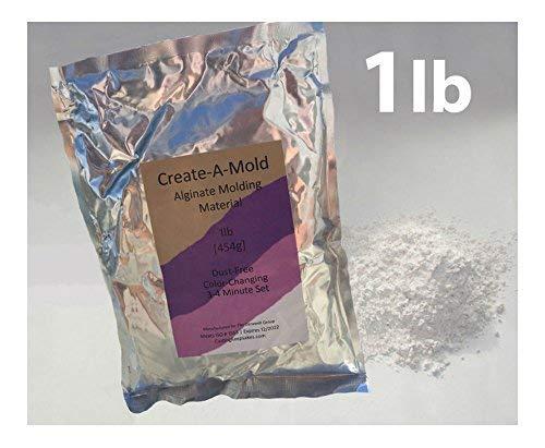 Gel Casting - 1lb Create-A-Mold Chromatic ALGINATE MOLDING POWDER Material Life Casting Gel