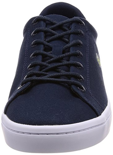 Lacoste Men's Straightset Sport 118 2 Canvas Lace Up Trainer White Navy Navy/Dark Blue OEFL4vY