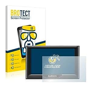 BROTECT AirGlass Protector Pantalla Cristal Flexible Transparente para Garmin nüvi 58LMT Protector Cristal Vidrio - Extra-Duro, Ultra-Ligero, Ultra-Claro