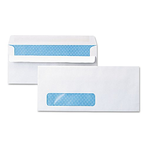 Universal One Self-Seal Business Envelope, Window, Security Tint, #10, White, (Universal Products Window Envelopes)