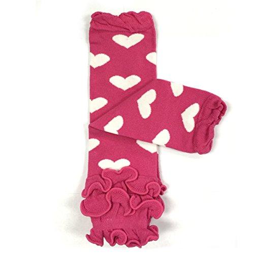 Babylegs Pattern - ALLYDREW Funky Prints & Patterns Baby Leg Warmer & Toddler Leg Warmer for Boys & Girls, Pink Ruffle Hearts