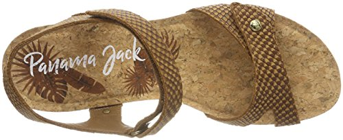 Panama Jack Dame Julia Slange Peeptoe Sandalen Brun (cuero) BsRookv9y