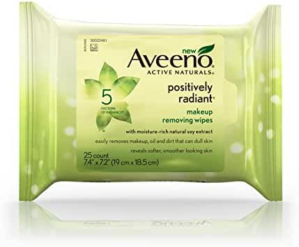 Aveeno Positively Radiant Daily Cleansing Pads, 25 Count