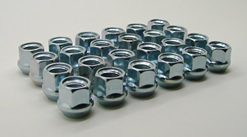 "AccuWheel LNA-12000Z6O Zinc Finish Open-End Bulge Acorn Wheel Lug Nuts (1/2""-20 Thread Size) 0.83"" Tall - Pack of 24 Lugnuts"