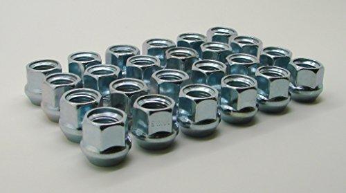 AccuWheel LNA-14200Z6O Zinc Finish Open-End Bulge Acorn Wheel Lug Nuts (14mm x 2.0 Thread Size) 0.83