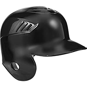 Rawlings Coolflo Single Flap Batting Helmet for Left Handed Batter, Black, Medium