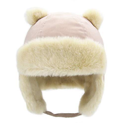 (Children Earflap Trooper Hat Cap Kids Winter Ushanka Faux Fur Trapper Hat Size L)