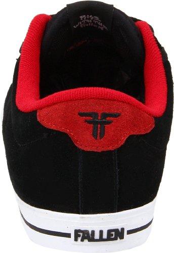 Fallen BOMBER 23818033 - Zapatillas de skate de ante unisex Negro (Black/Red)