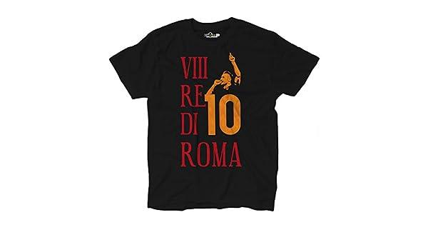 KiarenzaFD Camiseta Camiseta fútbol Roma Totti Capitán pupone Leyenda Re 10 Futbolista 5: Amazon.es: Ropa y accesorios