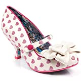 Irregular Choice 'Love is in The Air' GlitterHeart Pump White and Pink, 38