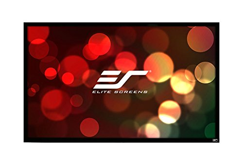 (Elite Screens ezFrame Series, 110-inch Diagonal 16:9, Sound Transparent Perforated Weave AcousticPro1080P3 Fixed Frame Projection Screen, R110WH1-A1080P3)