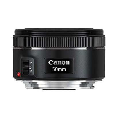 Canon EF 50mm f/1.8 STM Lens For Canon Cameras With 3 Piece Filter Kit (UV-CPL-FLD) + Lens Cleaning Kit from Canon