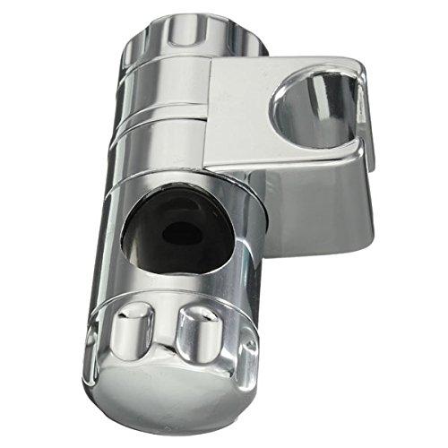 Chrome Finished Bathroom Adjustable Rail Slider Shower Head Holder Fixed Lifting