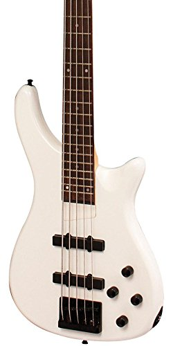 B Series Bass Guitar - Rogue LX205B 5-String Series III Electric Bass Guitar Pearl White