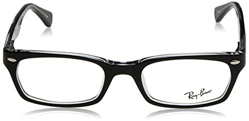 On Geométrico Ray Transparent mujer acetato RX Ban Black 5150 Top AwwPt8q