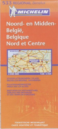 Michelin Map Belgium: North & Center 533