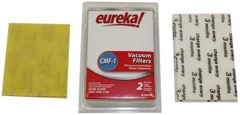 Eureka Cassette//Motor Vacuum Filter Pack Fits Eureka Bagged