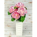 OOKi-Artificial-Fake-Flowers-1-Bouquet-with-6-Silk-6-Big-Rose-Head-Flower-Arrangements-Wedding-Bouquets-Decorations-Plastic-Floral-Table-Centerpieces-Home-Kitchen-Garden-Party-Dcor-Mauve