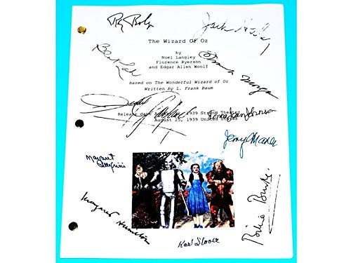 NHMug The Wizard of Oz Movie Script Signed Poster Gift Poster for Fan [No Framed] Poster Home Art Wall Posters (24x36) -