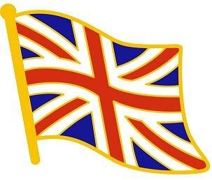 Pin con solapa de la bandera de Reino Unido.
