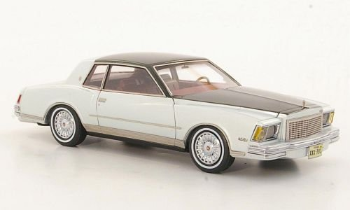 Neo Scale Models (Chevrolet Monte Carlo, silver/metallic-dark grey, 1978, Model Car, Ready-made, Neo Limited 300 1:43)