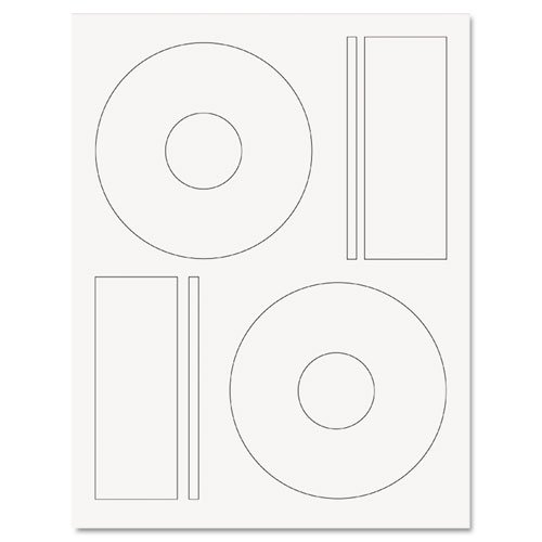 ReBinder Laser CD/DVD Labels, White, 50/Pack (LBCDW2CS25)