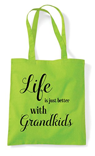 Lime Grandkids Tote Just Life Shopper Family With Bag Is Statement Better RIw1x