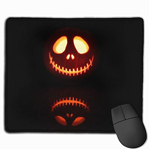Scary Jack O Lantern Mouse Pad 7.08X8.66 inches/18X22 cm with Decor,Anti-Skid Rubber Mouse Pad,with Stitched -