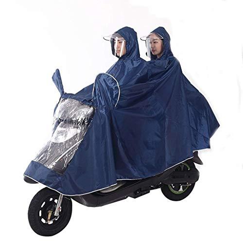 Doble Coche Lluvia Laisla Mujeres Fashion Adultos Impermeable De La Clásico Motocicleta B Los Y Del Eléctrica Poncho YpqBY