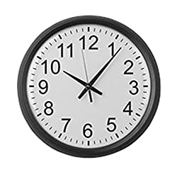 CafePress - Large Numbers - Large 17 Round Wall Clock, Unique Decorative Clock