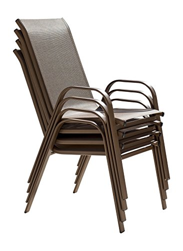 Panama Jack PJO-9001-ESP-4PCHB Café Collection Stackable Chair Set