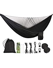 ValueHall Camping Hammock with Mosquito Net Lightweight Double Hammock Portable Hammocks Parachute Nylon Hammock for Indoor,Outdoor, Hiking, Camping, Backpacking, Travel, Backyard, Beach V7079B