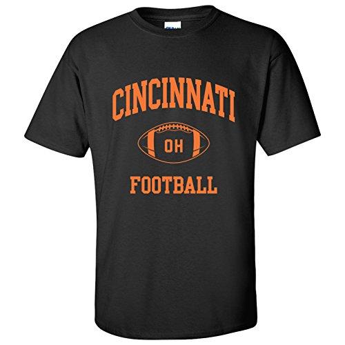Cincinnati Classic Football Arch Basic Cotton T-Shirt - Large - Black ()