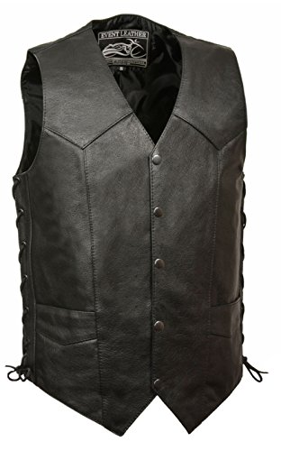 big and tall leather vest - 1