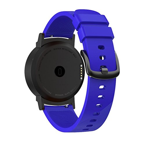 Small Large Replacement Silicone Band Strap Wristband Bracelet for Ticwatch E (Blue, Large) by Hometom (Image #1)