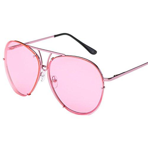 lujosas morado Gafas y lentes parte unisex sol grande rosa morado superior grandes plana de tamaño aviador espejo de Turkey estilo de HAPwxqH