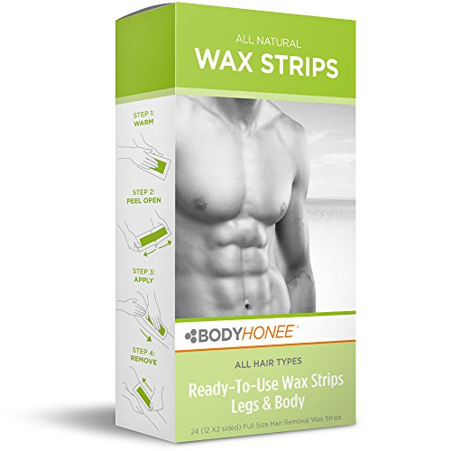 Hair Removal Wax Strips Legs + Body, 24 Count -